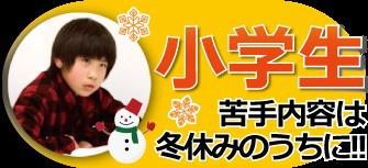 小学生 苦手な内容は冬休みのうちに!!