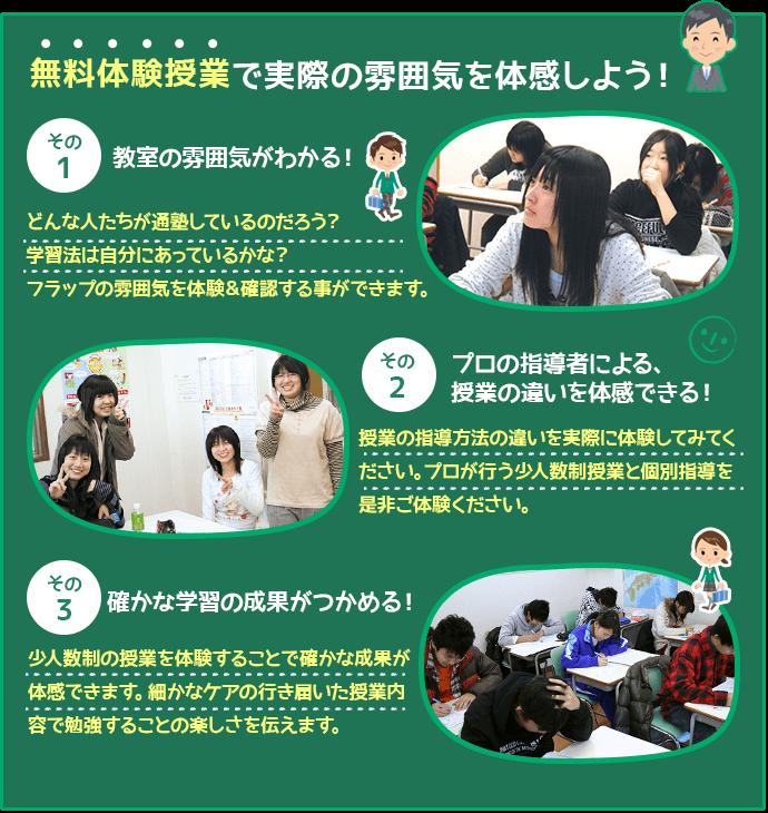 ようこそ!フラップ指導会○○教室へ!